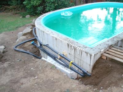 Stavba bazénu ze ztraceného bednění